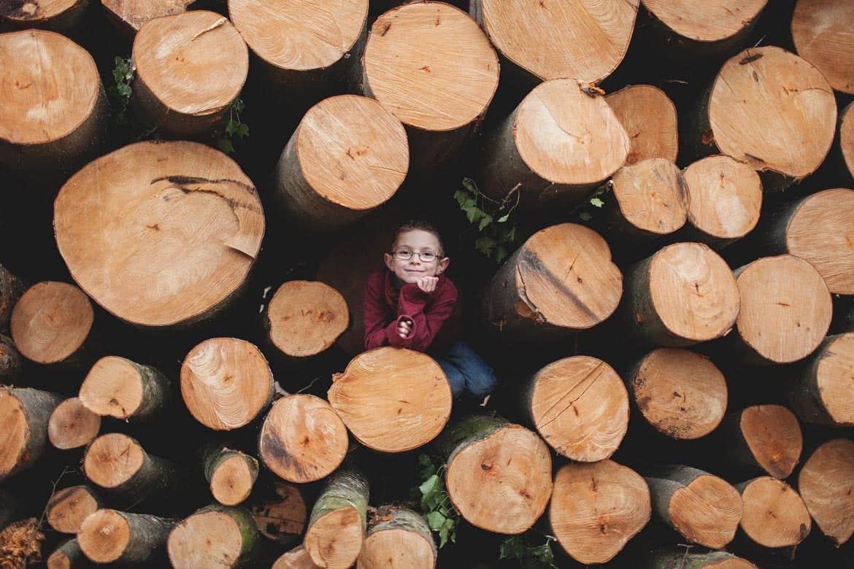 Séance en famille en forêt