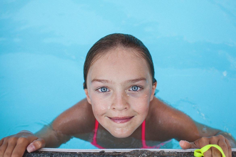 Séance portrait à la piscine